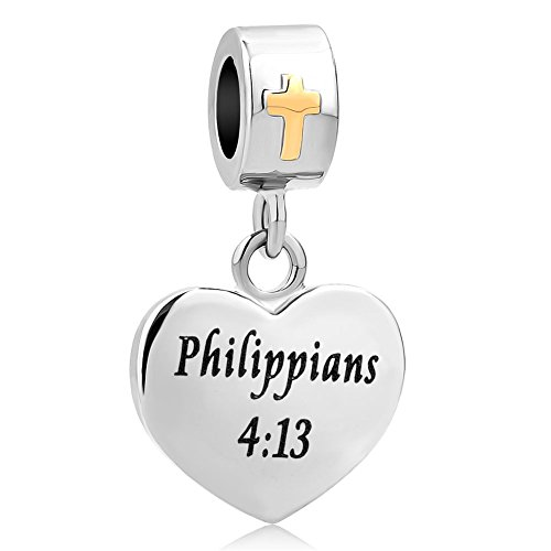 SexyMandala Religious Cross Holy Bible Christian Dangle Charm For European Beads Bracelets