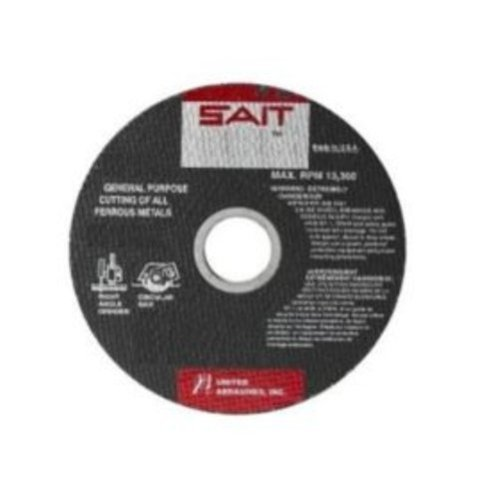 United Abrasives- SAIT 23480 Type 1 16-Inch x 1/8-Inch x 1-Inch 4800 Max RPM Ductile Portable Saw Cut-Off Wheel, 10-Pack ()