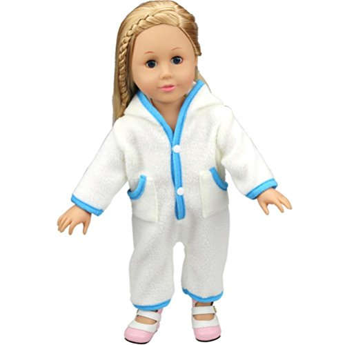 Price comparison product image Amiley Cute Cartoon Baby Doll Clothes Custom Design Pajamas Outfit For 18 Inch Our Generation American Girl Doll Perfect Gift (Blue)