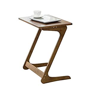 Sofa Table TV Tray NNEWVANTE End Table Laptop Desk Side Table Snack Tray for Bedside Couch Sofa Eating Writing Reading Living Room-Walnut