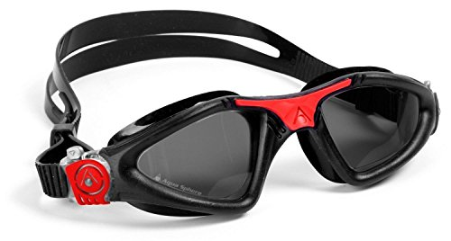 Aqua Sphere Kayenne Goggle, Black/Red - Tinted Lens