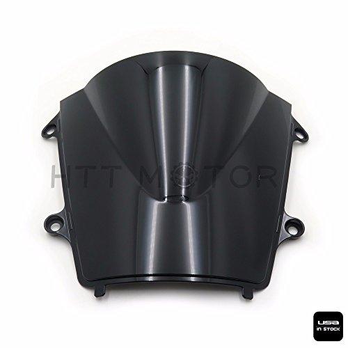 SMT MOTO- SMOKE BLACK DOUBLE BUBBLE WINDSCREEN WINDSHIELD FOR 2013-2015 HONDA CBR600RR