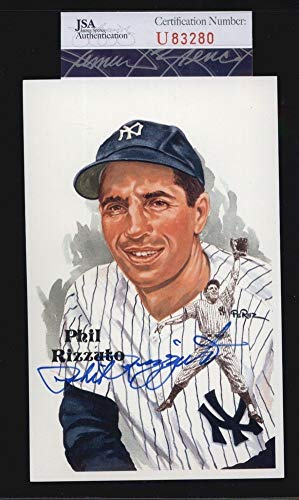 Phil Rizzuto D2007 Yankees Hof Autographed Signed Autograph Perez Steele Postcard Sports Memorabilia JSA Certificate of Authentic Memorabiliaity Included