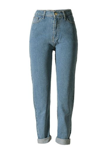 Women's Casual Cotton Loose Boyfriend Straight Leg Jeans 25(Tag) by ECHOINE