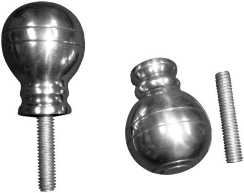 JWL (2) Cane Walking Stick Shift Knob Handle Ball Style Cast Aluminum with Threaded Rod Connector