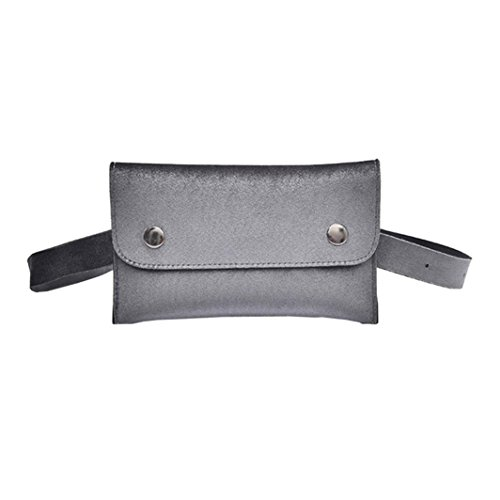 Women Winkey Chest Bag Shoulder Messenger Bag Grey Bag Leather Waist Mini Bag xYgwrqYB