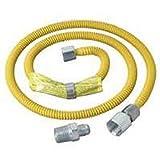 "Brass Craft CSSL54-48P 48"" Stainless Steel Gas Dryer Connector"
