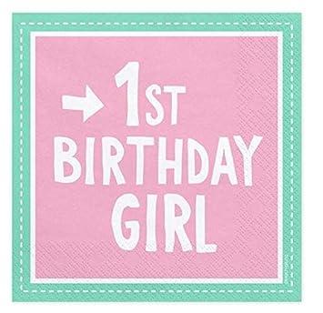 Party Servietten 1 Geburtstag Rosa Papier Servietten 1st Birthday