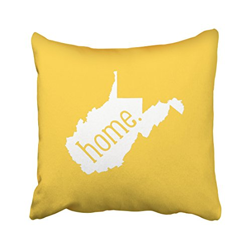 KJONG West Virginia Home State Zippered Pillow Cover,18X18 inch Square Decorative Throw Pillow Case Fashion Style Cushion Covers(Two Sides (West Virginia Pillow)