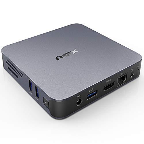 XIDU PhilMac Mini PC Aluminum Alloy Windows 10, 8GB DDR4, 128GB eMMC, Intel Celeron J4115, 4K HD Mini Desktop Computer…