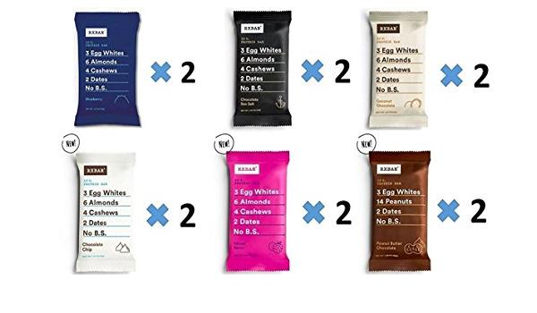 RXBAR Rxbar real food protein bars mejor vendedor paquete de ...