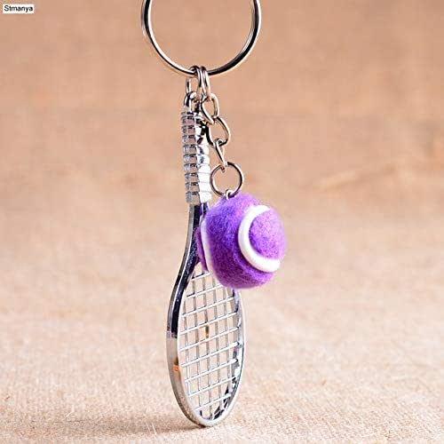Lovely Key Accessory Perfect Gifts Keyring Mini Tennis Racket Pendant Keychain