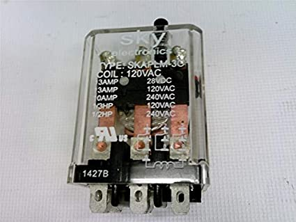 120VAC 13A SPDT Plug in Relay with Test Button RADWELL VERIFIED SUBSTITUTE KUP-14A45-120-SUB Relay