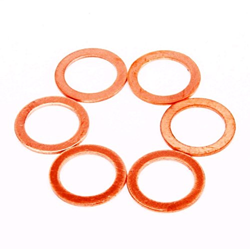COPPER CRUSH WASHERS ID 22mm / 6 PACK ()