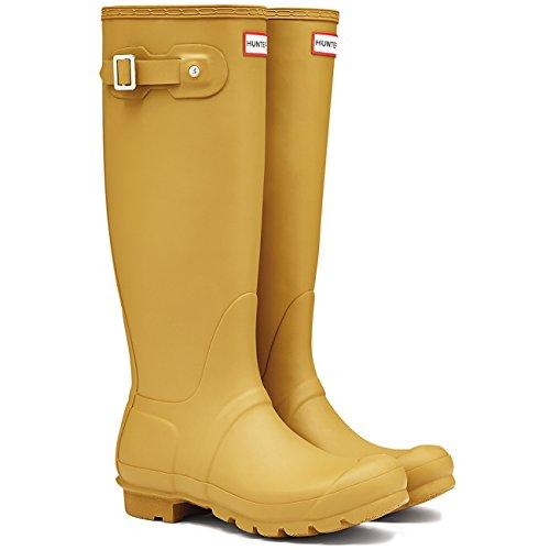 Womens Hunter Original Tall Wellington wasserdichte Winter Schnee Regen Stiefel Verbrannter Schwefel