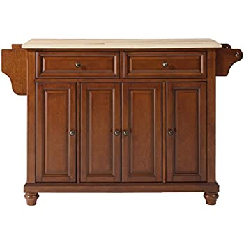 Awesome Crosley Furniture Cambridge Kitchen Island With Natural Wood Top   Classic  Cherry