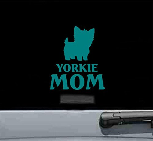 JS Artworks Yorkie Mom Yorkshire Terrier Dog Vinyl Decal Sticker ()