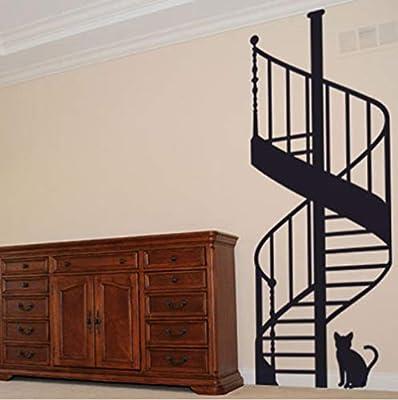 Qinyubing Escalera De Caracol Diy Vinilo Adhesivos De Pared Sala De Estar Dormitorio Habitación Infantil Decorativo Para El Hogar 59 * 120 Cm: Amazon.es: Bricolaje y herramientas