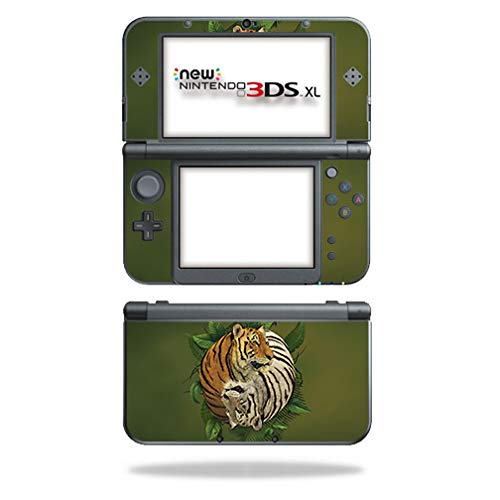 MightySkins Skin Compatible with Nintendo New 3DS XL (2015) - Tiger Yin Yang | Protective, Durable, and Unique Vinyl Decal wrap Cover | Easy to Apply, Remove, and Change Styles | Made in The USA