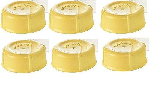 (6) Medela Solid Lids - Yellow/ solid cap/ bottle lid/ for sale  Delivered anywhere in USA