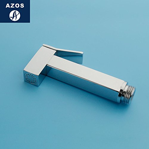 Azos Bidet Faucet Pressurized Sprinkler Head Brass Chrome Cold Water Two Function Washing Machine Pet Bath Toilet Round PJPQ031A1 by AZOS