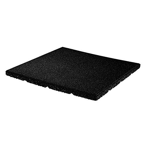 "Playsafer 1"" Rubber Interlocking Flooring Tiles for Playgrounds, Backyards, and Play Areas - 20"" X 20"" - UP to 4' Fall Height Protection"