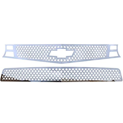 Ferreus Industries Polished Stainless Diamond Mesh Grille Grill Insert Trim fits: 2010-2013 Chevy Camaro SS TRK-158-04