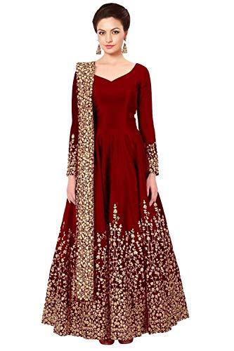 Da Facioun Indian Women Designer Partywear Ethnic Traditonal Salwar Kameez. Da Facioun Femmes Indiennes Concepteur Partywear Ethnique Traditionelles Salwar Kameez. Red 2 Rouge 2
