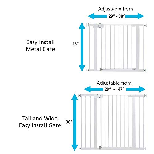 417bTmvAekL - Safety 1st Easy Install Metal Baby Gate With Pressure Mount Fastening (White), Pack Of 1