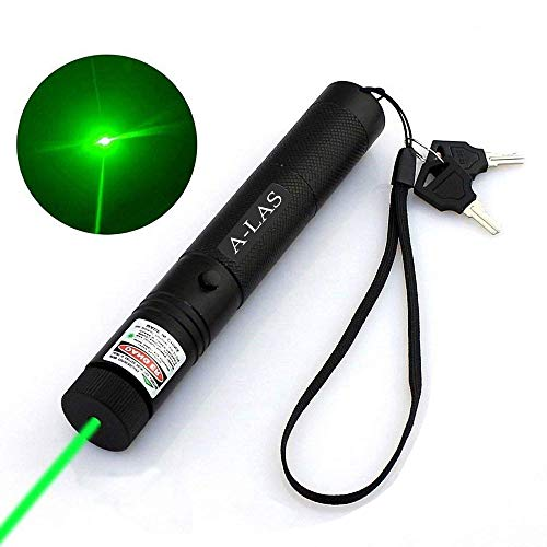 Green Laser Pointer High Power Hunting Rifle Scope Sight Laser Pen, Remote Laser Pointer Travel Outdoor Flashlight, LED Interactive Baton Funny Laser Pointer Toys for - High Metal Keychain Light Beam