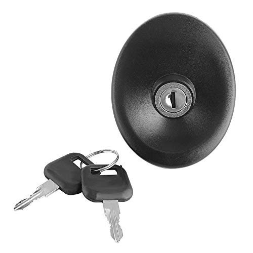 fengwen66 Fuel Tank Filler Lockable Cap Cover With 2 Keys For FORD TRANSIT MK5 Vehicles(Black)