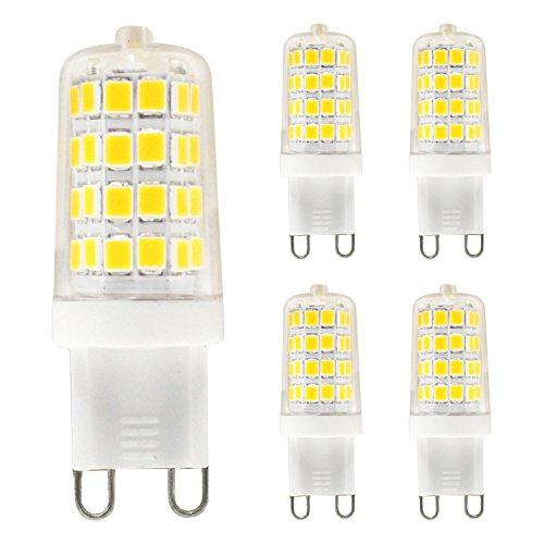 G9 LED Bulb - Mechok35W Replacement Halogen Bulb, 3.5W Not Dimmable AC 120V Light Bulbs, Warm White 3000K, 350 Lumens for Home Lighting5-Pack