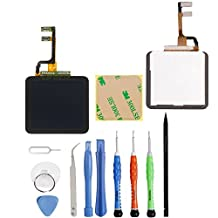 Unifix-Full Repair Kit Touch Screen Digitizer Glass LCD Display Screen for Ipod Nano 6th Generation Pre-assembly + Tool Kit with Adhesive