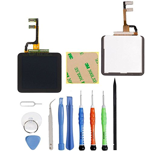 (Unifix Full Repair Kit Touch Screen Digitizer Glass LCD Display Screen for iPod Nano 6th Generation Pre-Assembly + Toolkit with Adhesive)