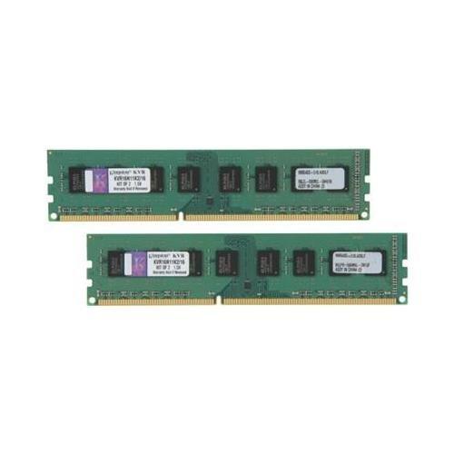 (Kingston ValueRAM 16GB DDR3 SDRAM Memory Modules - 16 GB (2 x 8 GB) - DDR3 SDRAM - 1600 MHz - Non-ECC - Unbuffered - 240-pin - DIMM KVR16N11K2/16)