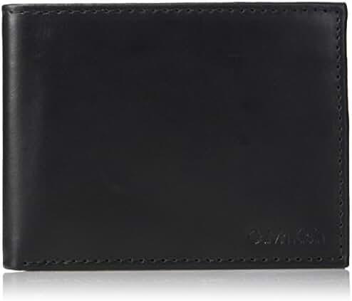 Calvin Klein Men's Leather Bifold Wallet w/ Key Fob