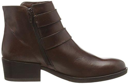 MANAS LEON - botas de piel mujer marrón - marrón (Cognac)