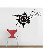 Creativity Wall Decals for Living Room, Home Decor, Waterproof Wall Stickers