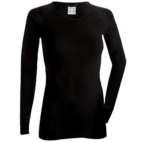 Crew Lightweight Pullover (MERIWOOL Merino Wool Women's Lightweight Form Fit Baselayer Crew Pullover Top - Small)