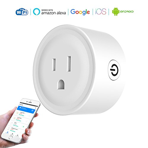White Automatic Register (Wifi Smart Switch Mini - Intelligent Outlet works with Compatible Amazon - alexa google home, Remote App Control Plug By Phone from Anywhere Anytime energy monitoring, White 100-240v, 10A)