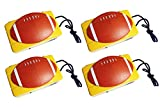 Best 4 Pack Best Unique 35mm Camera Football Themed Bulk Fun Cool Silly NFL Great Gag Accessories Back To School Super Bowl Party Favor Supplies for Little Boy Man Men Dad Teacher Him
