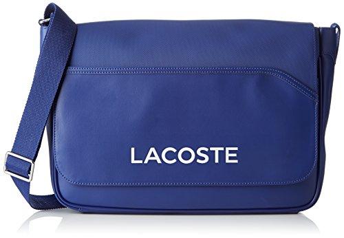 Lacoste NH0864UT, Bolso Bandolera para Hombre, 27 x 10 x 39 cm Mazarine Azul (Mazarine Blue)