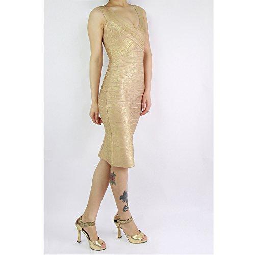 HLBCBG - Vestido - Sin mangas - para mujer Blau - Gold