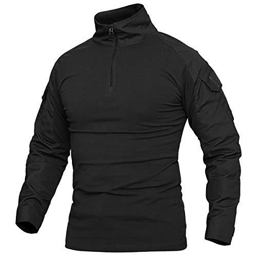 (CARWORNIC Men's Assault Military Tactical Combat Shirt Long Sleeve Outdoor Army T Shirt)