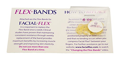 Facial-Flex Replacement Bands - 3 Month Supply of Facial Flex Bands, 6 Oz. Resistance ()