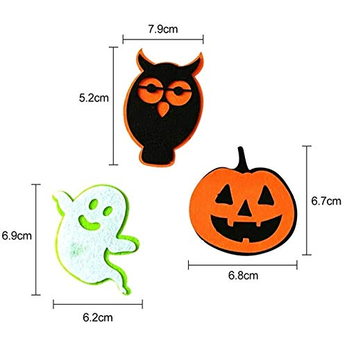 Party Diy Decorations - Halloween Pumpkin Owl Ghost Felt Non Woven Fabric Applique Collection - Mat Detected Sensed Allhallow Eve - 1PCs]()