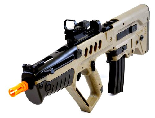 umarex tavor 21 desert tan aeg airsoft rifle w/ reflex dot sight(Airsoft Gun)