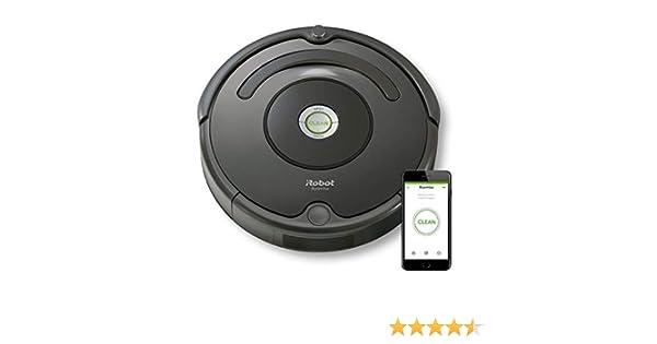 iRobot Roomba 676 aspiradora robotizada Sin bolsa Negro 0,6 L - Aspiradoras robotizadas (Sin bolsa, Negro, Alrededor, 0,6 L, AeroVac, Carga): Amazon.es: Hogar