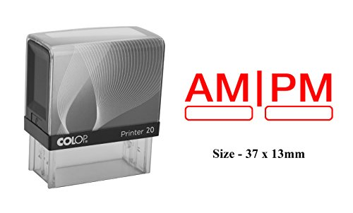 AM | PM Rubber Stamp Colop Office Self Inking Stationary Stamp ()