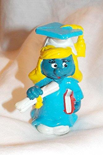 (1981 Vintage Graduate Smurfette 2.25